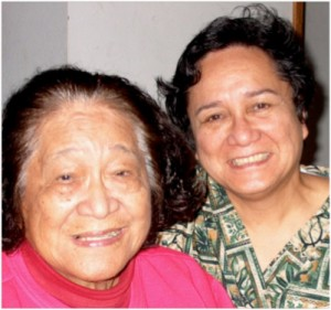 Auntie Margret Machado and her daughter Nerita, who now runs the massage school.